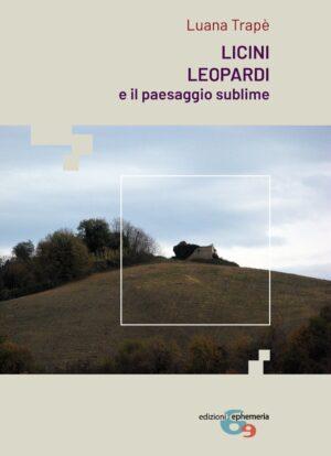 Copertina del libro di Luana Trapè su Licini e Leopardi