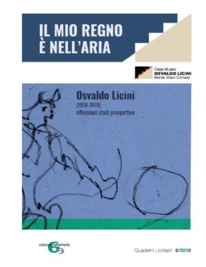 Copertina della raccolta di saggi brevi Il mio regno è nell'aria sull'arte di Osvaldo Licini